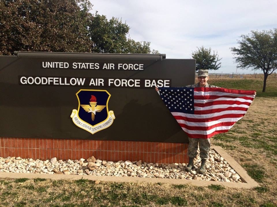 Jim's flag at Goodfellow Air Force Base