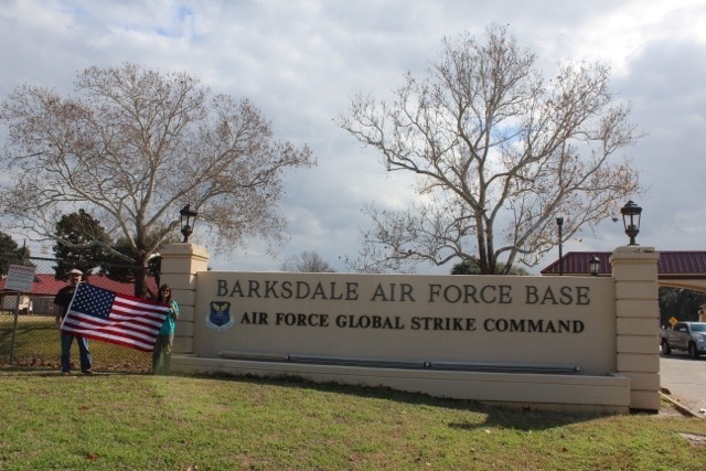 Jim's flag at Barksdale Air Force Base