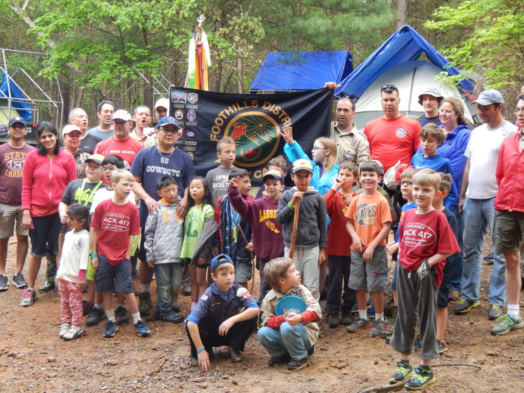 Pack 417 in their Campsite