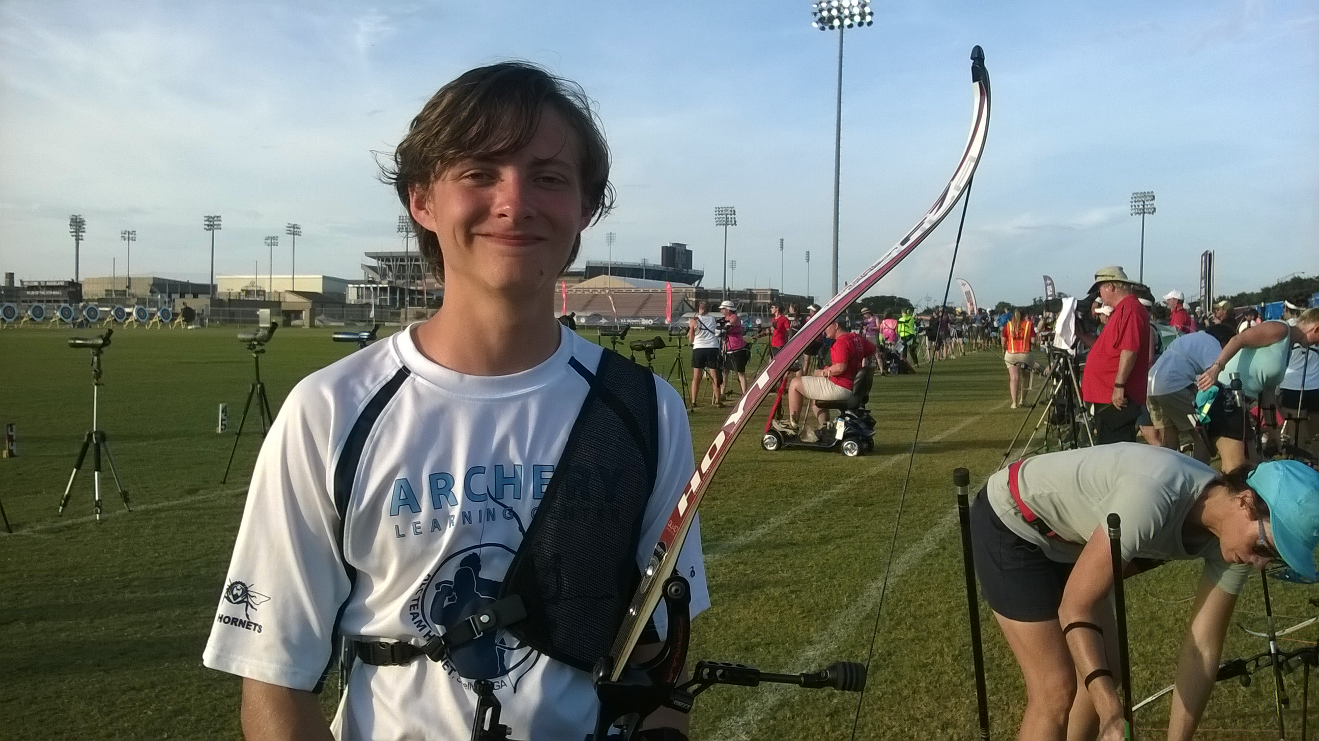 Anthony at the Olympic Archery Team Trials