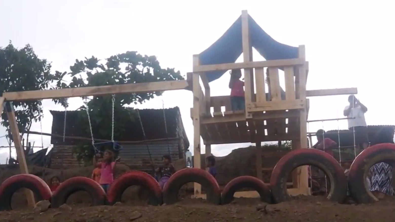 The playset Jay built for his Eagle Scout Project in Guatemala