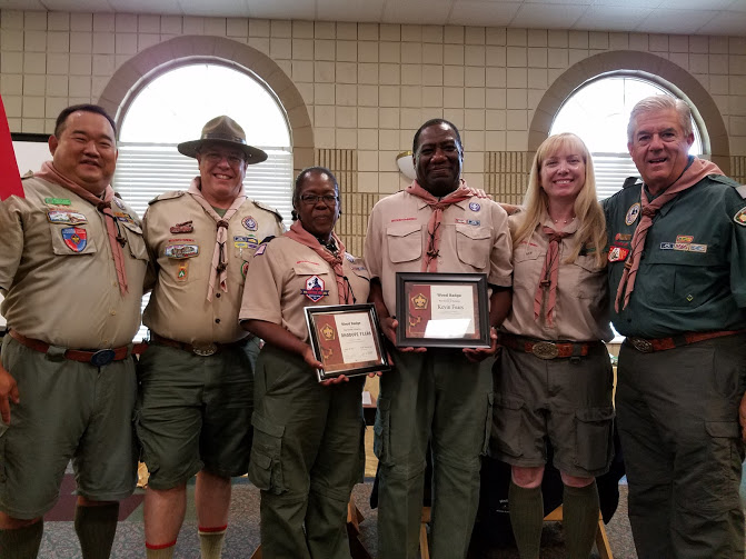 Leaders are recognized for completing Wood Badge