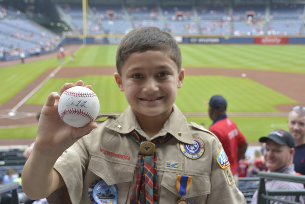 Hunter with his signed ball