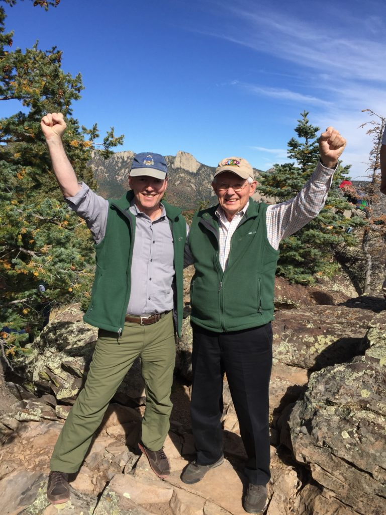Mark and Tom Deimler at the top of Inspiration Point.