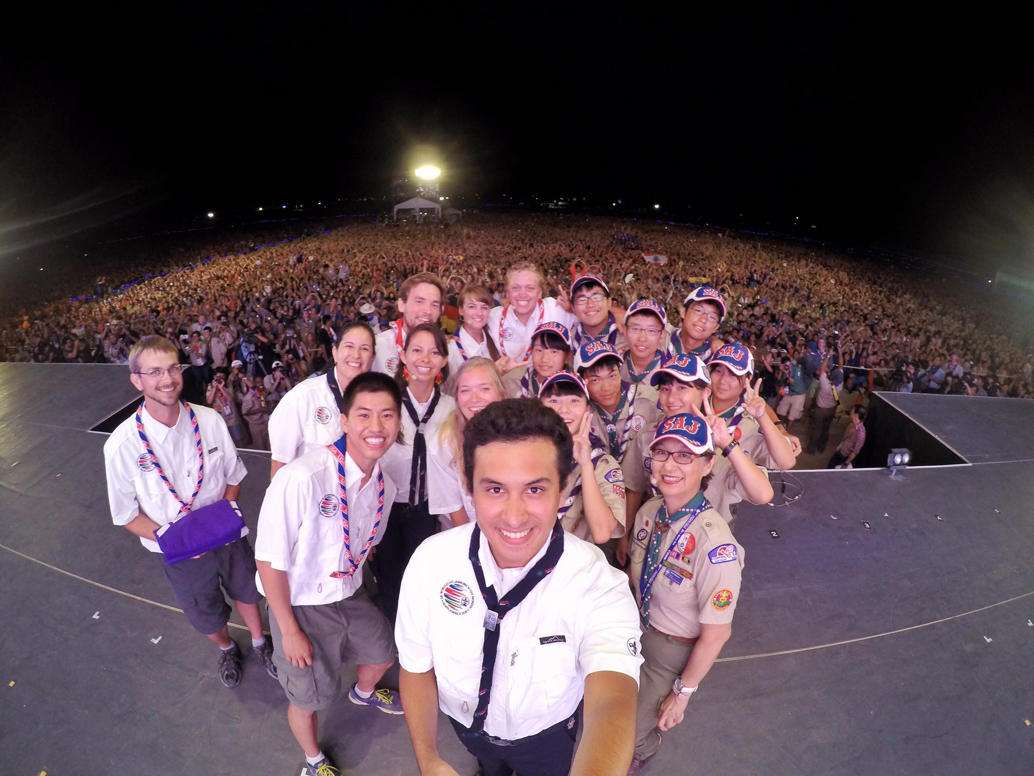 Willy Xiao on stage at the World Scout Jamboree