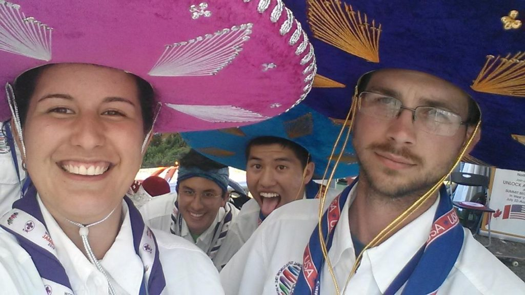 Visiting with Mexican Scouts at the World Scout Jamboree