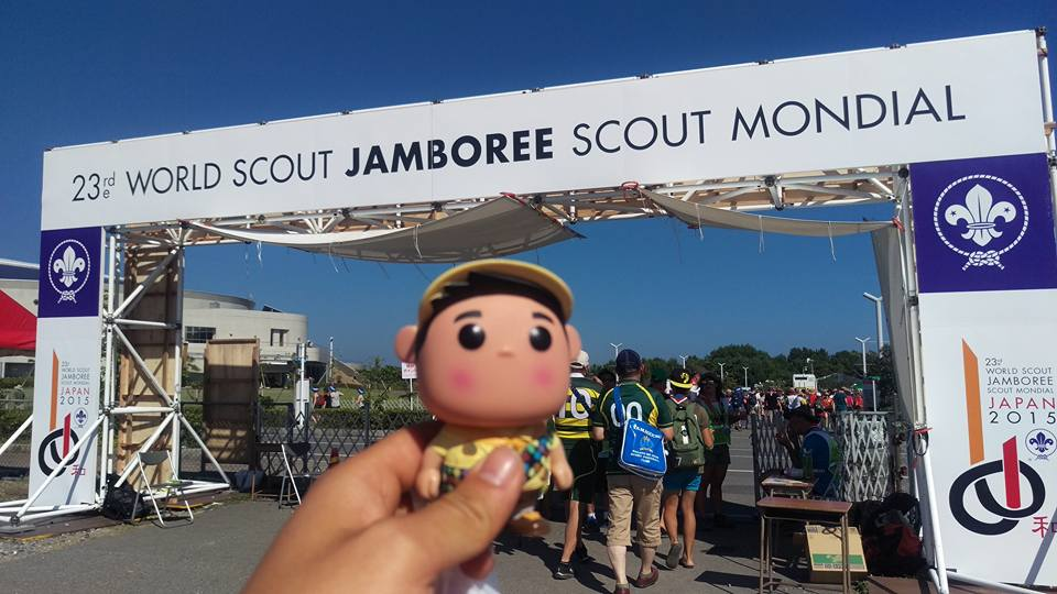 The entrance to the World Scout Jamboree