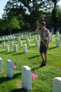Helping to place 18,000+ American Flags for Memorial Day at the Marietta National Cemetery