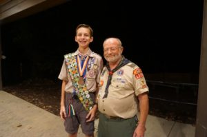 Thank you Scoutmaster, Mr. Tom Morin for your leadership this year