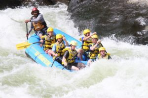 White water rafting on the New River Gorge at Summit High Adventure in West Virginia