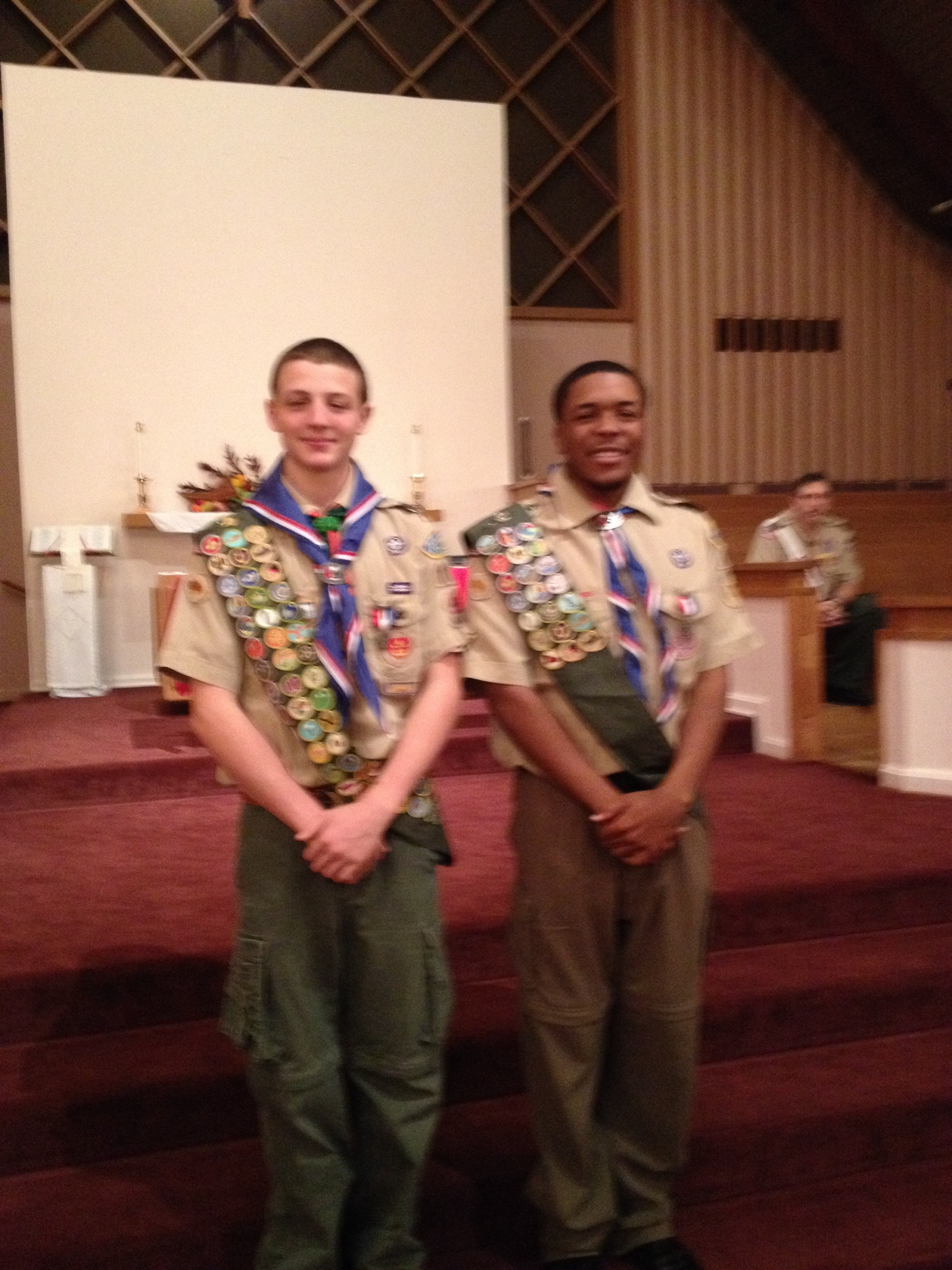 Kendall Ingran at his Eagle Scout Court of Honor