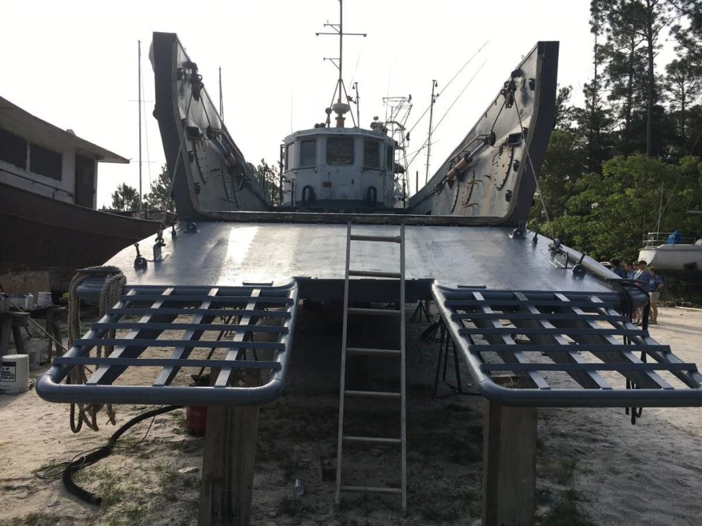 WWII Landing Craft in the boat yard
