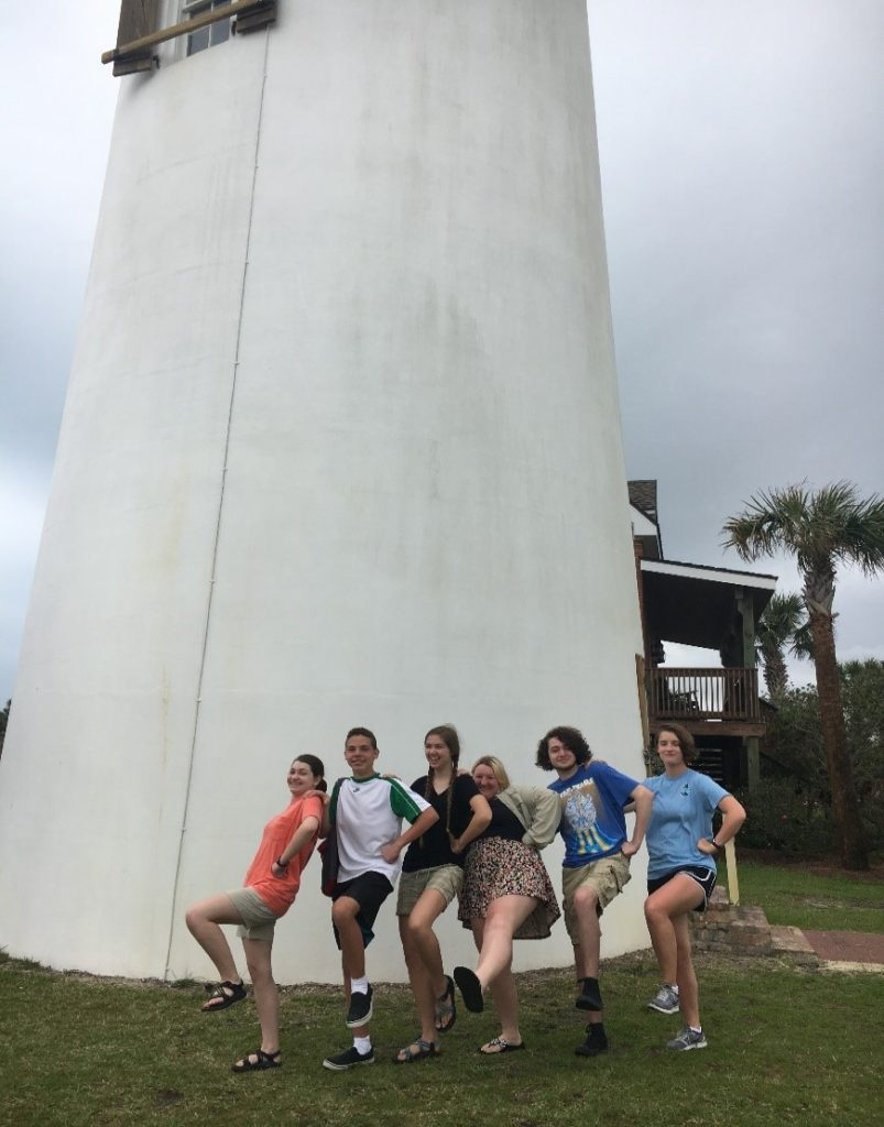 Visiting a lighthouse in Panama City