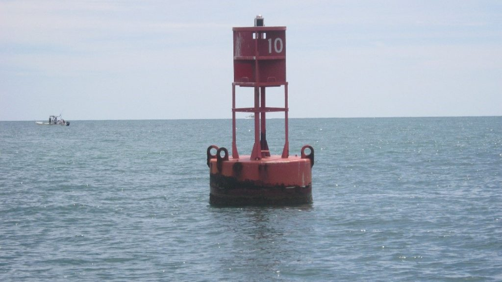 One of the channel markers