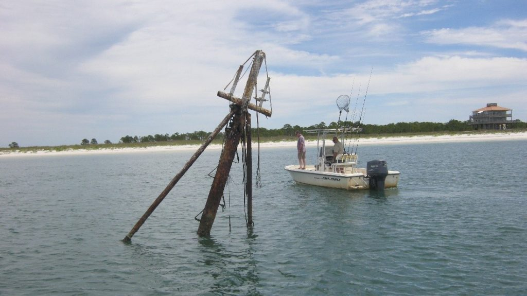 Sunken Trawler off the coast of Dog Island