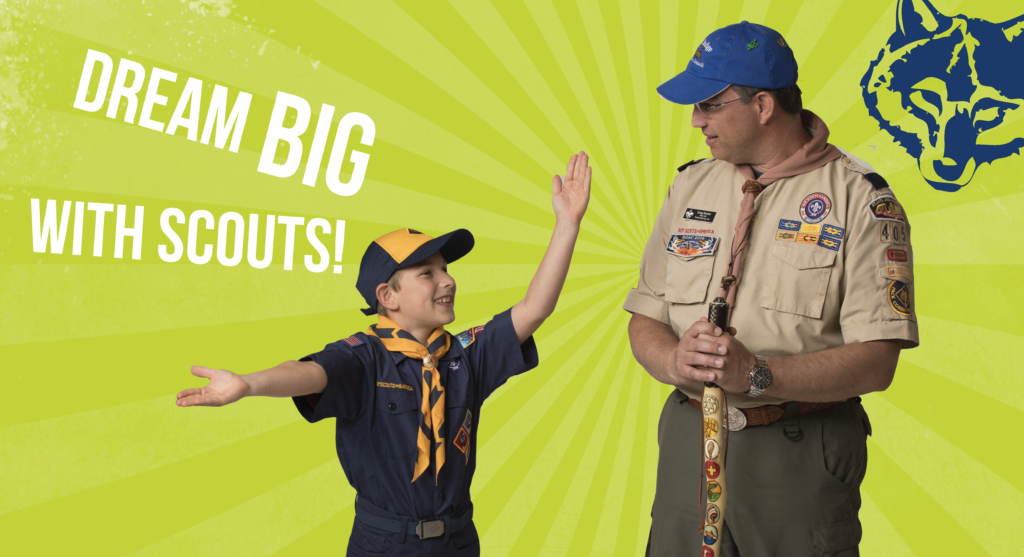 A promotional image for Cub Scout Pack