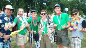 Venturers have a Beach Party at the National Jamboree