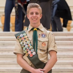 Scouting brought Henry to the state capitol to meet the governor